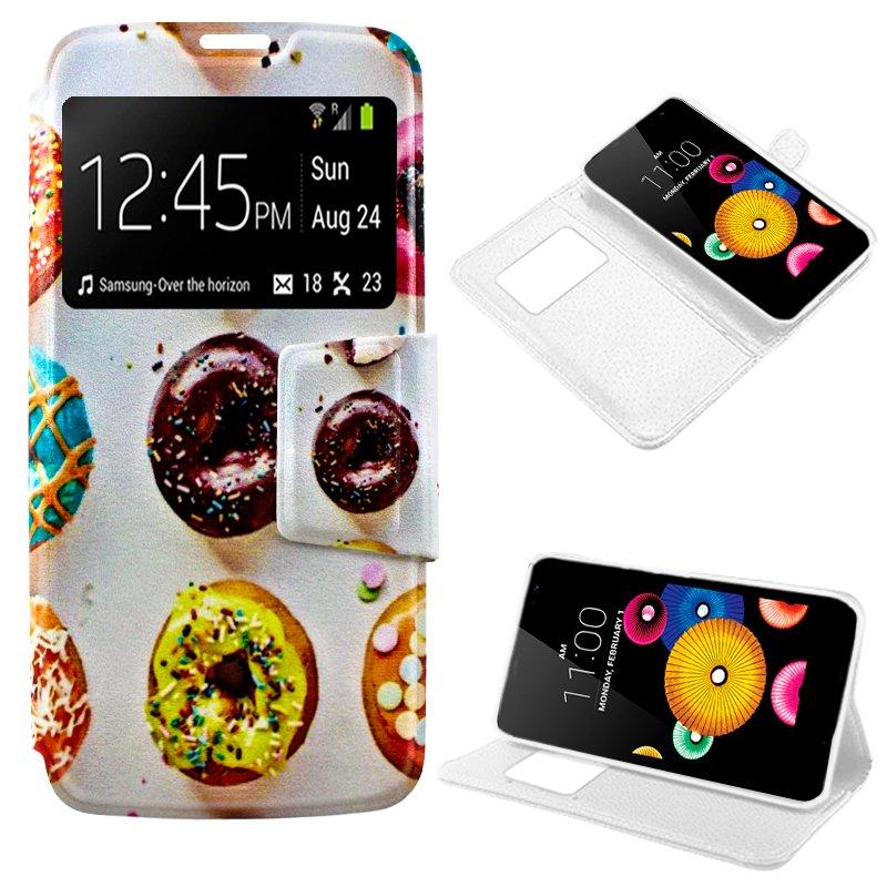 Funda Flip Cover LG K4 Dibujos Donuts