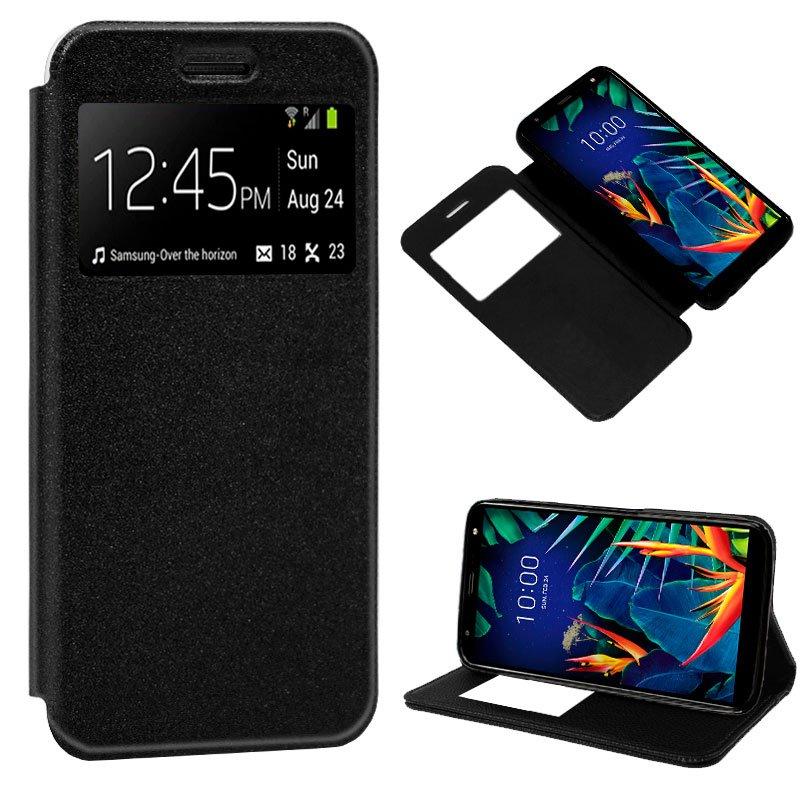 Funda Flip Cover LG K40 Liso Negro