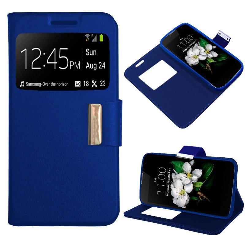 Funda Flip Cover LG K7 Liso Azul