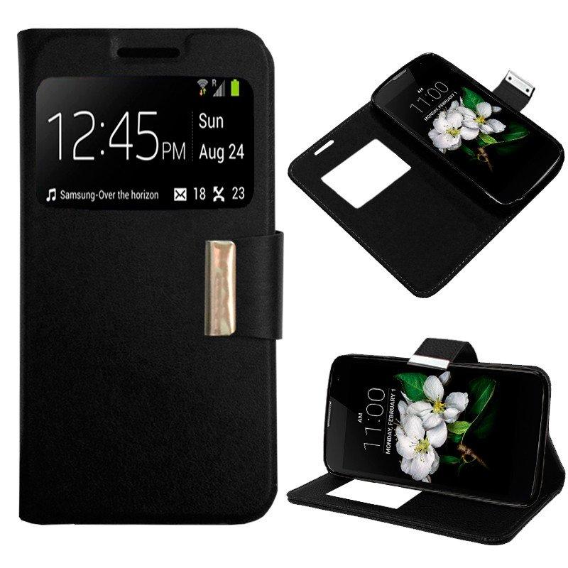 Funda Flip Cover LG K7 Liso Negro