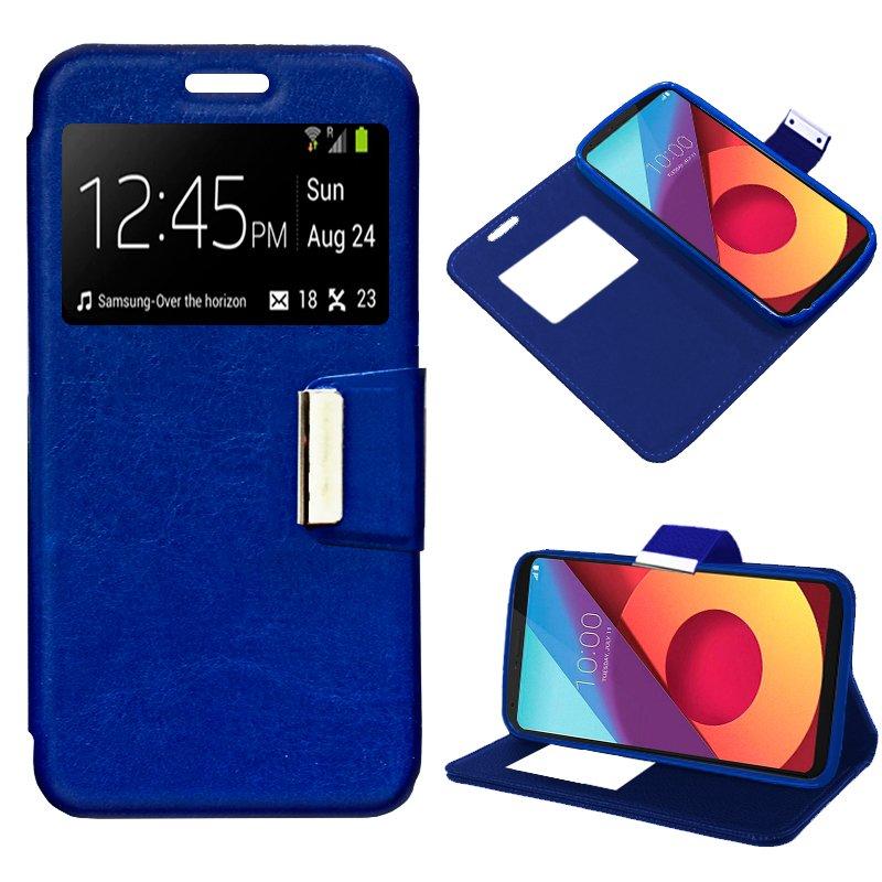 Funda Flip Cover LG Q6 / Q6 Alpha / Q6 Plus Liso Azul