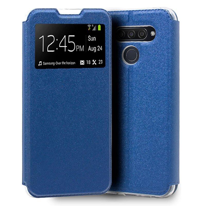 Funda Flip Cover LG Q60 / K50 Liso Azul