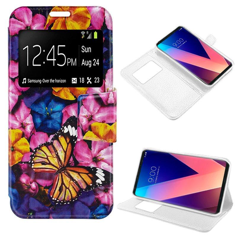 Funda Flip Cover LG V30 Dibujos Mariposa