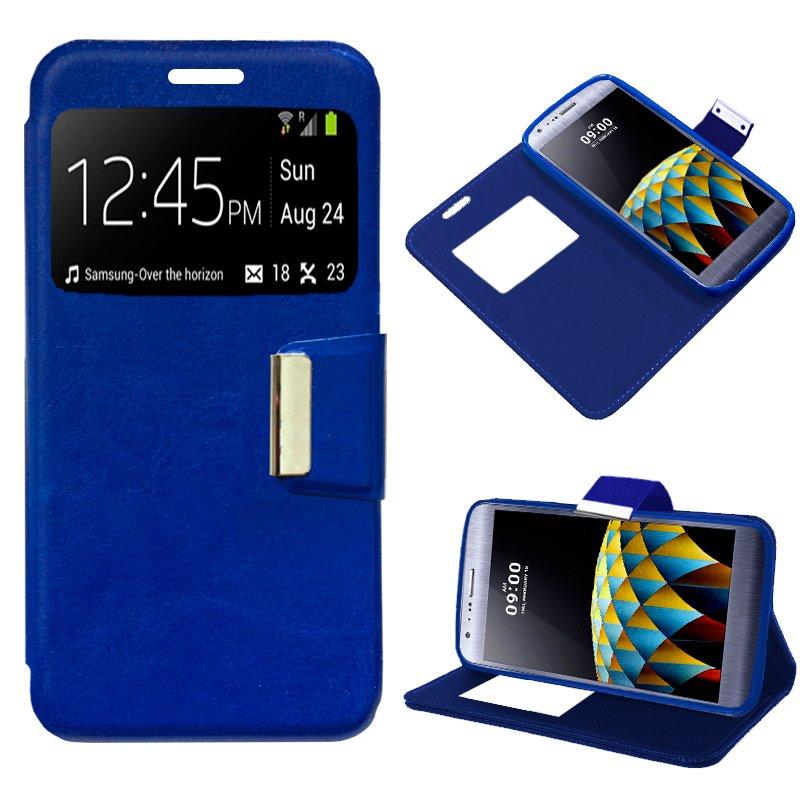 Funda Flip Cover LG X Cam Liso Azul