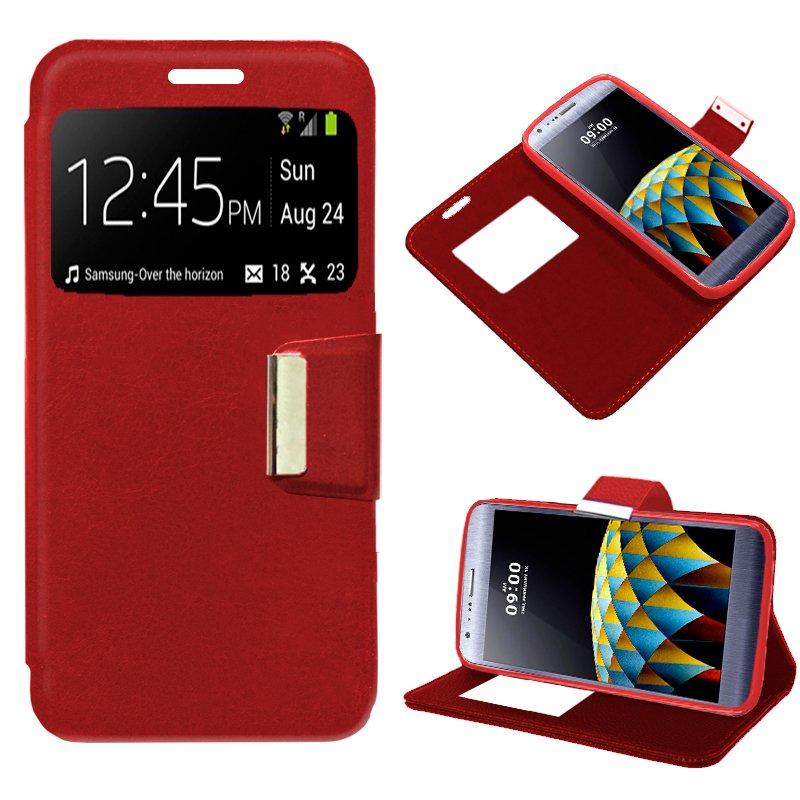 Funda Flip Cover LG X Cam Liso Rojo