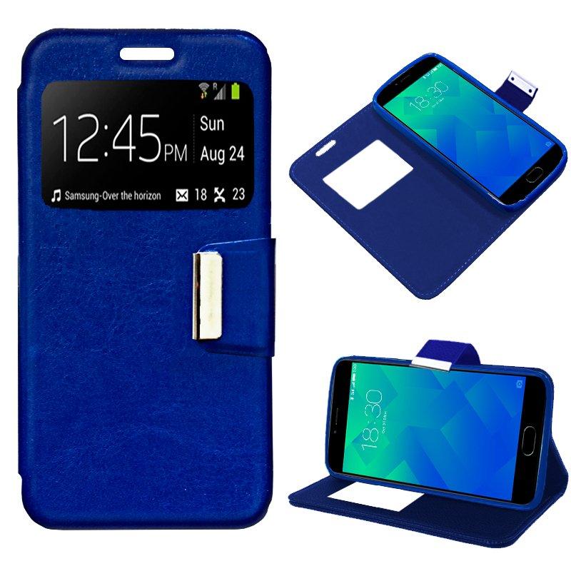 Funda Flip Cover Meizu M5 Liso Azul