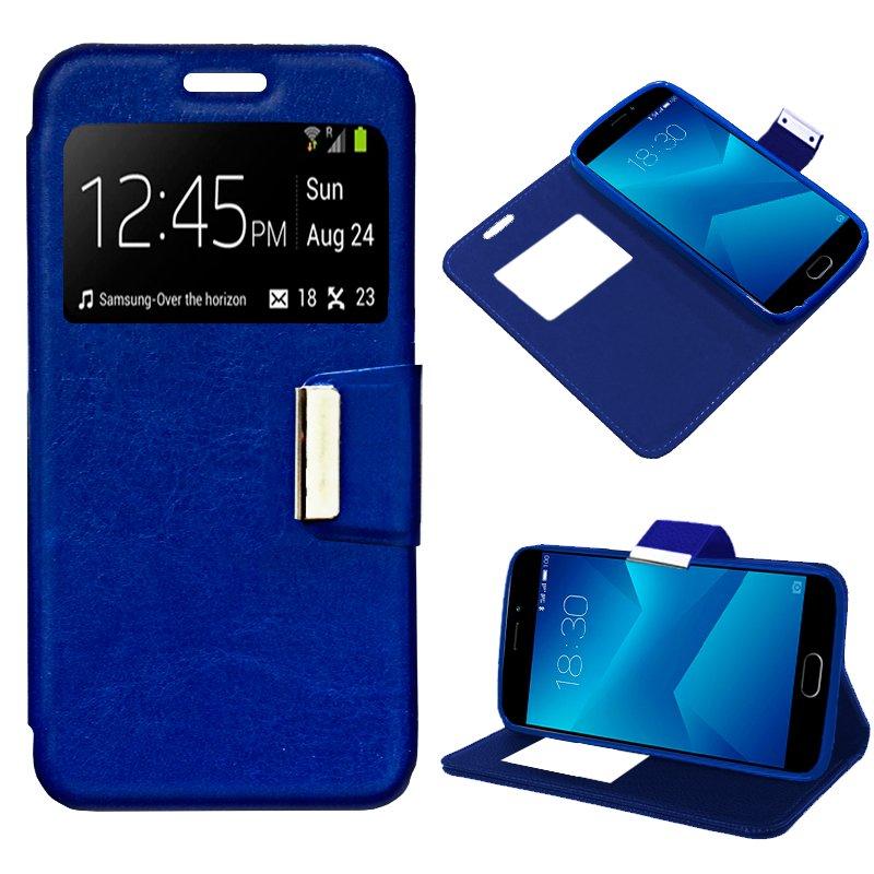 Funda Flip Cover Meizu M5 Note Liso Azul
