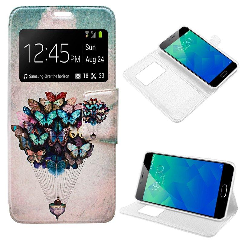 Funda Flip Cover Meizu M5s Dibujos Mariposas
