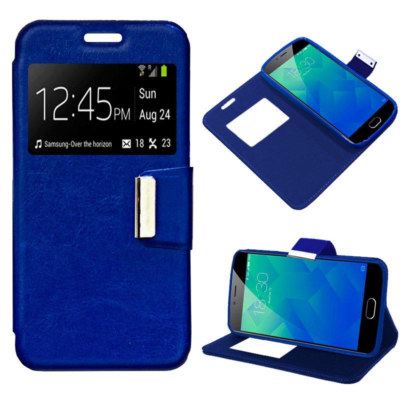 Funda Flip Cover Meizu M5s Liso Azul