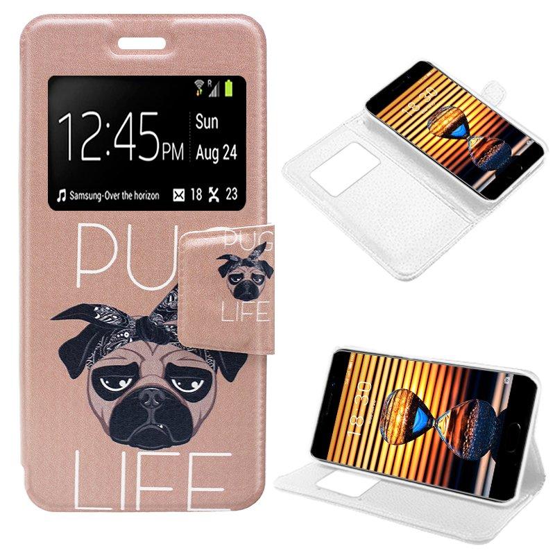 Funda Flip Cover Meizu Pro 7 Dibujos Dog