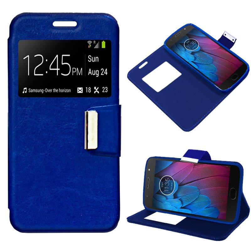 Funda Flip Cover Motorola Moto G5S Liso Azul