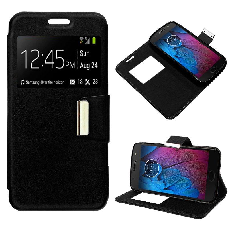 Funda Flip Cover Motorola Moto G5S Liso Negro