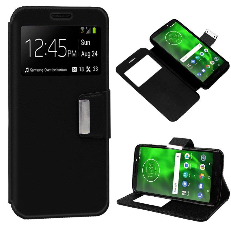 Funda Flip Cover Motorola Moto G6 Play / Moto E5 Liso Negro