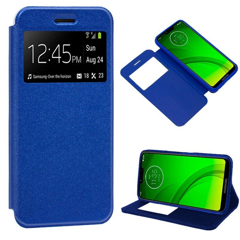 Funda Flip Cover Motorola Moto G7 / G7 Plus Liso Azul