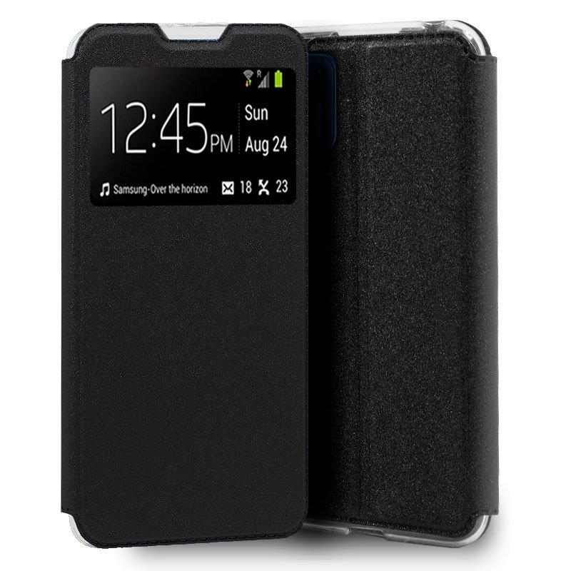 Funda Flip Cover Motorola Moto G9 Plus Liso Negro