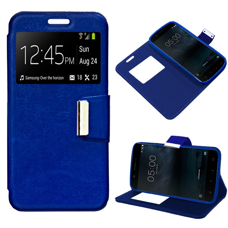 Funda Flip Cover Nokia 5 Liso Azul