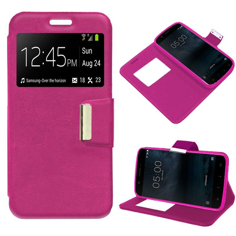 Funda Flip Cover Nokia 5 Liso Rosa