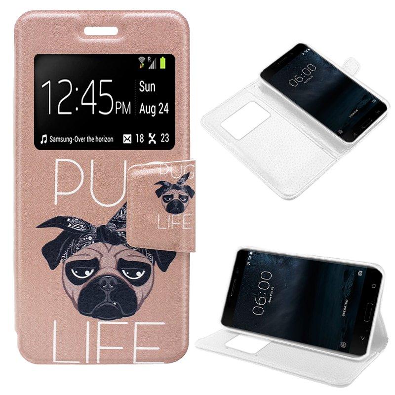 Funda Flip Cover Nokia 6 Dibujos Dog