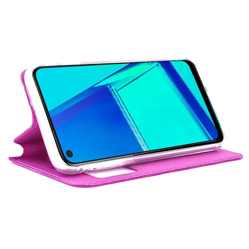 Funda Flip Cover Oppo A52 / A72 / A92 Liso Rosa