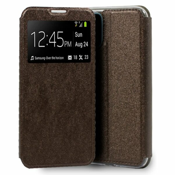 Funda Flip Cover Realme 7 Pro Liso Bronce