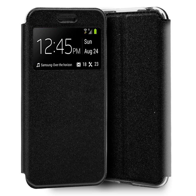 Funda Flip Cover Samsung A105 Galaxy A10 Liso Negro