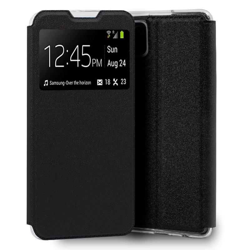 Funda Flip Cover Samsung A125 Galaxy A12 Liso Negro
