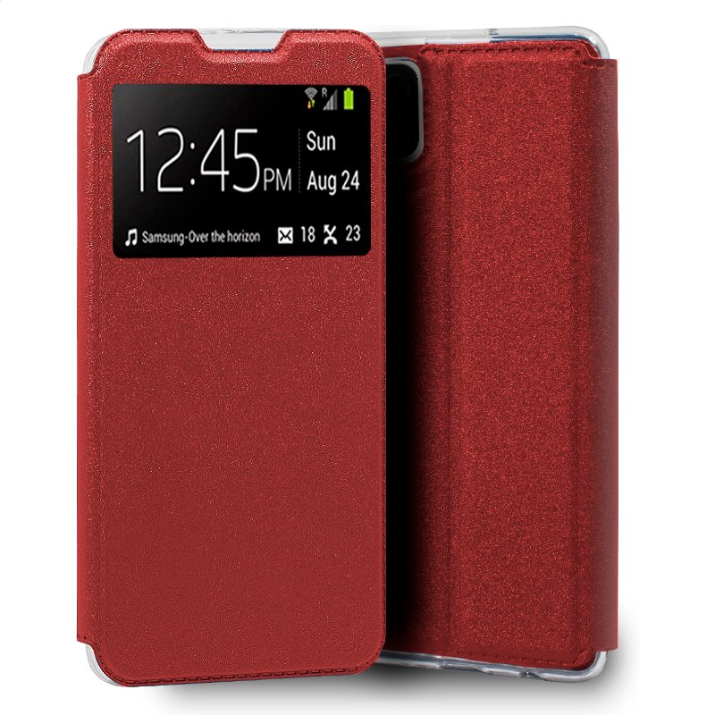 Funda Flip Cover Samsung A125 Galaxy A12 Liso Rojo