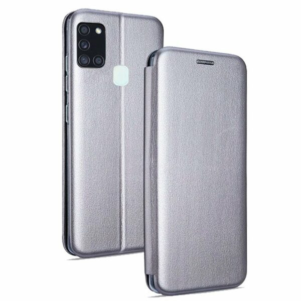 Funda Flip Cover Samsung A217 Galaxy A21s Elegance Plata