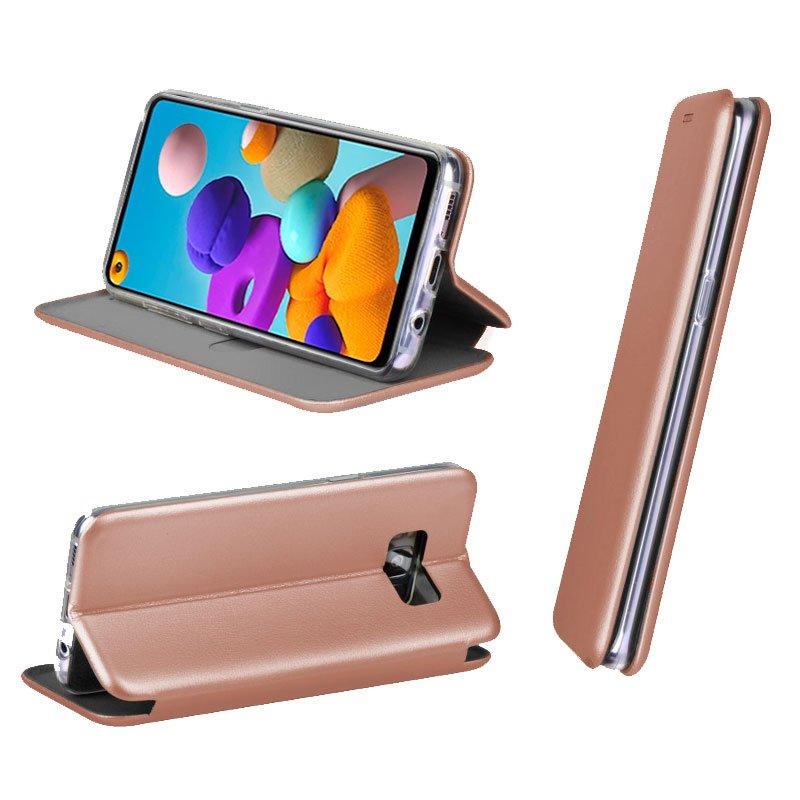 Funda Flip Cover Samsung A217 Galaxy A21s Elegance Rose Gold