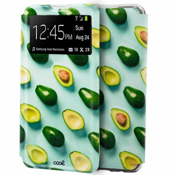 Funda Flip Cover Samsung A315 Galaxy A31 Dibujos Aguacates