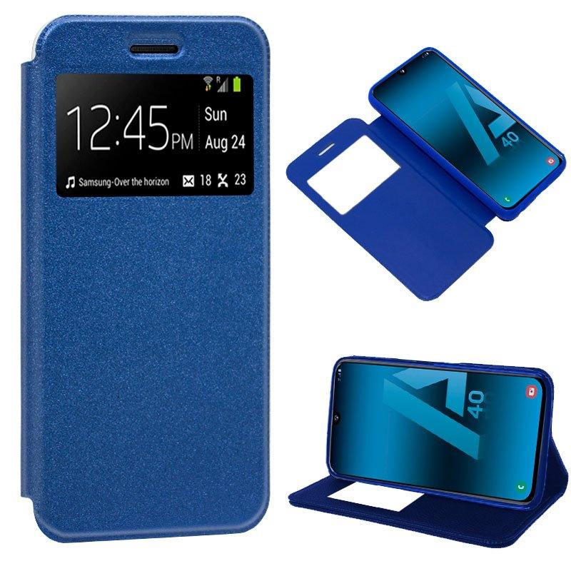 Funda Flip Cover Samsung A405 Galaxy A40 Liso Azul