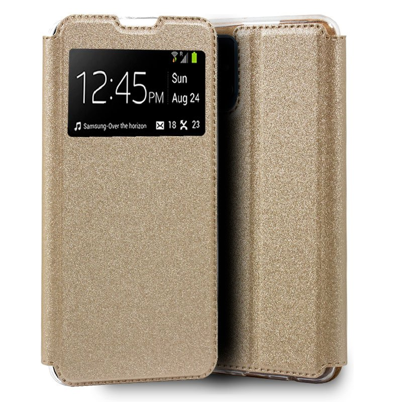 Funda Flip Cover Samsung A415 Galaxy A41 Liso Dorado