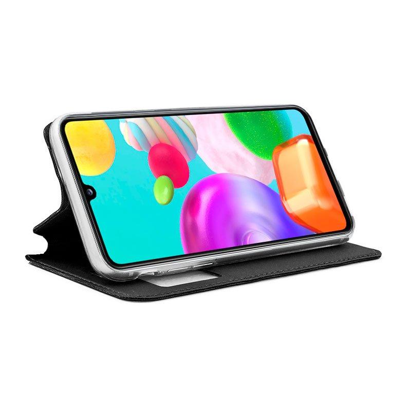 Funda Flip Cover Samsung A415 Galaxy A41 Liso Negro