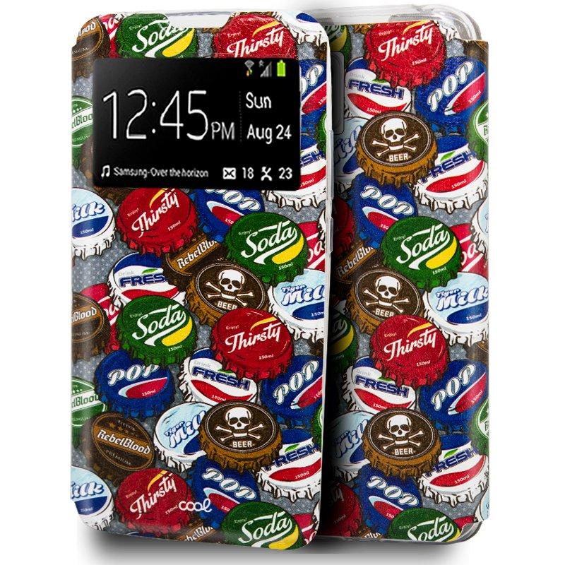 Funda Flip Cover Samsung A426 Galaxy A42 5G Dibujos Chapas