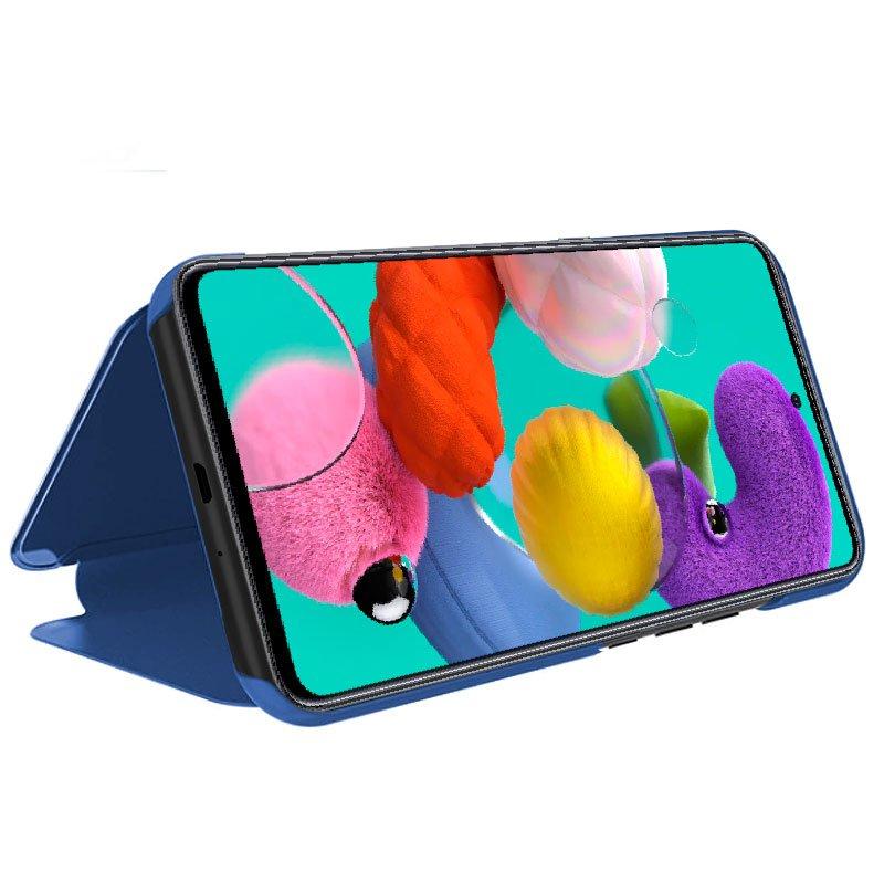 Funda Flip Cover Samsung A515 Galaxy A51 Clear View Azul