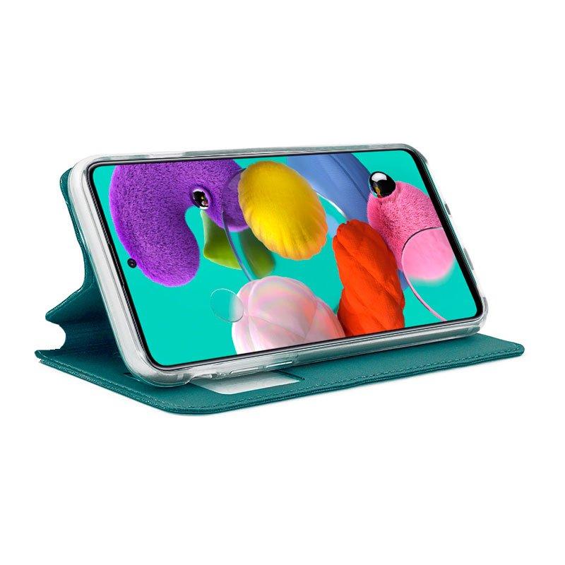 Funda Flip Cover Samsung A515 Galaxy A51 Liso Celeste