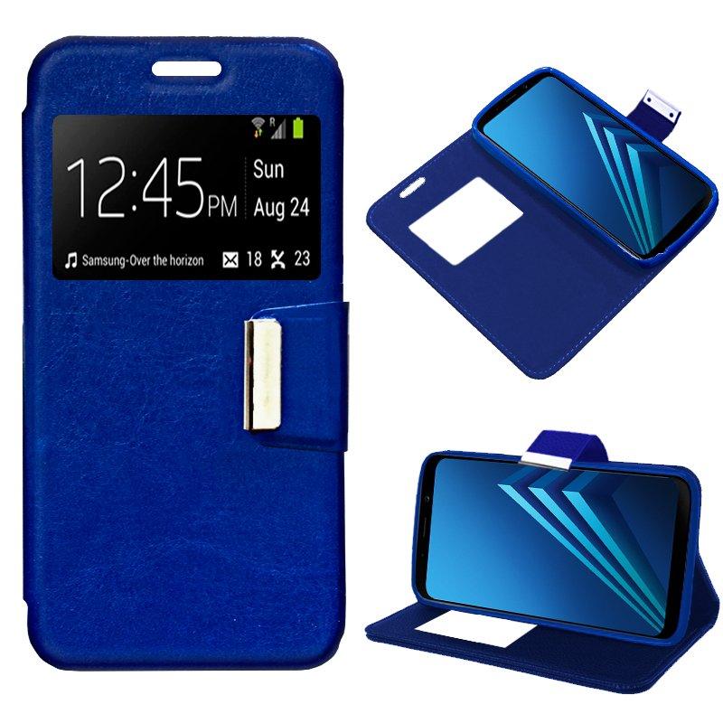 Funda Flip Cover Samsung A530 Galaxy A8 (2018) Liso Azul