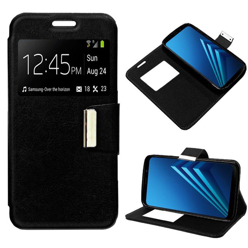 Funda Flip Cover Samsung A530 Galaxy A8 (2018) Liso Negro