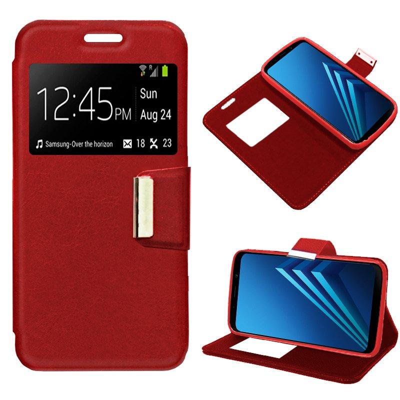 Funda Flip Cover Samsung A530 Galaxy A8 (2018) Liso Rojo
