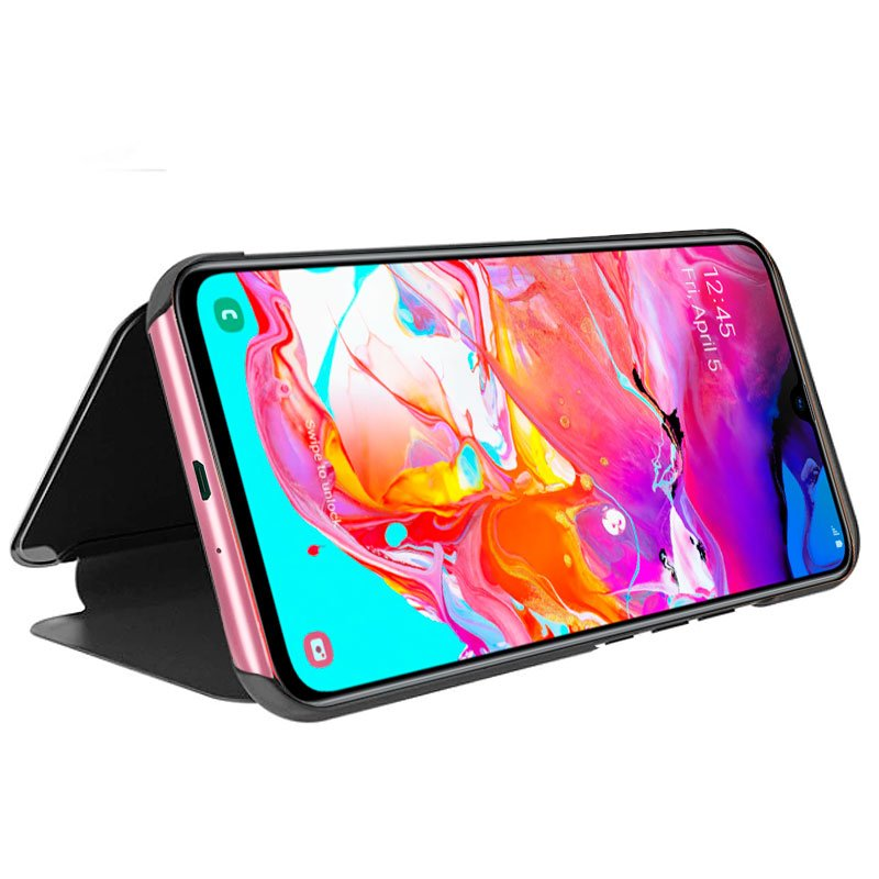 Funda Flip Cover Samsung A705 Galaxy A70 Clear View Negro