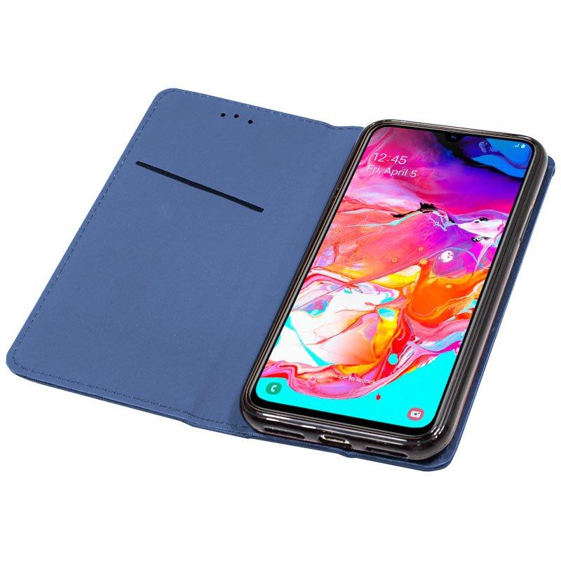 Funda Flip Cover Samsung A705 Galaxy A70 Liso Azul