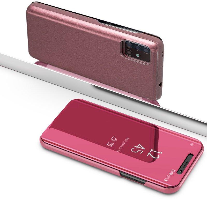 Funda Flip Cover Samsung A715 Galaxy A71 Clear View Rosa