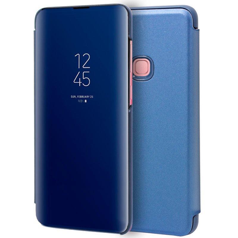Funda Flip Cover Samsung A920 Galaxy A9 (2018) Clear View Azul