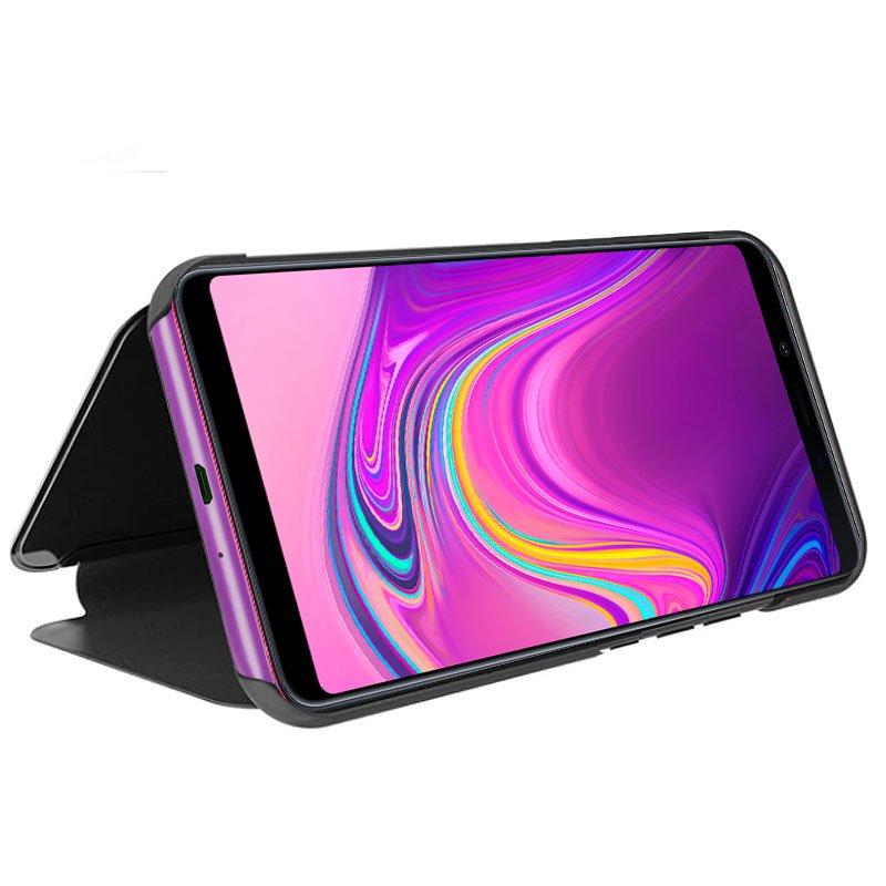 Funda Flip Cover Samsung A920 Galaxy A9 (2018) Clear View Negro