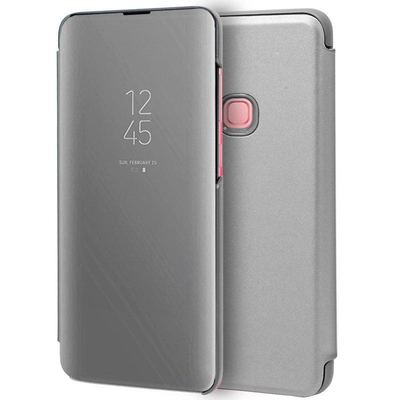 Funda Flip Cover Samsung A920 Galaxy A9 (2018) Clear View Plata