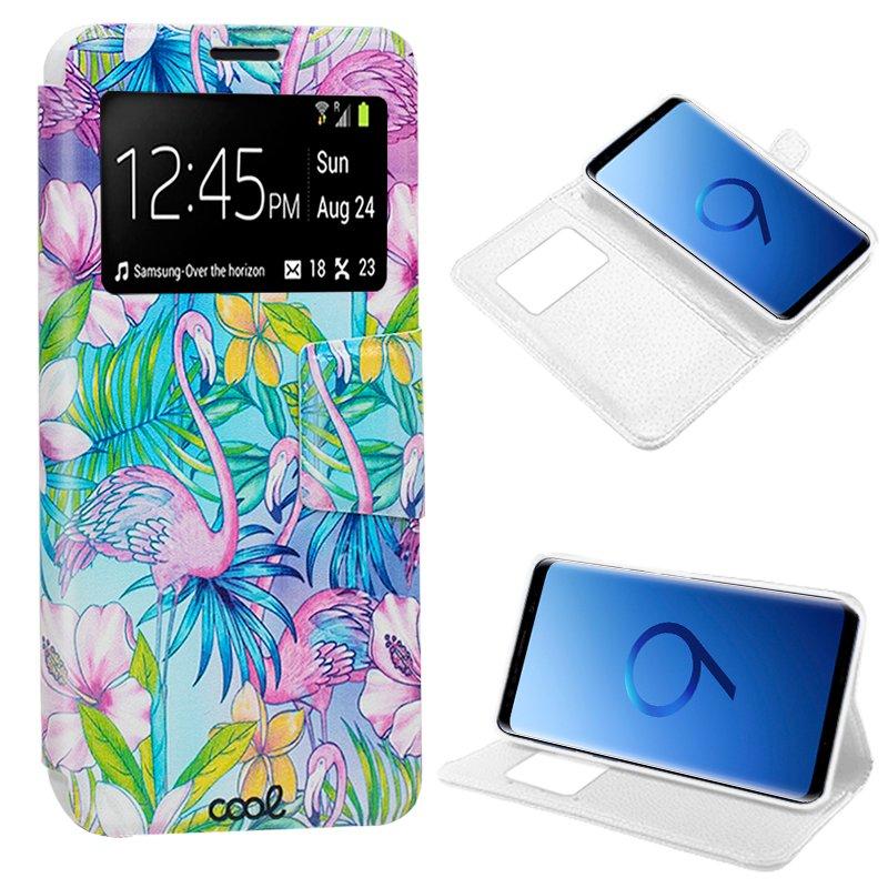 Funda Flip Cover Samsung G960 Galaxy S9 Dibujos Flamencos
