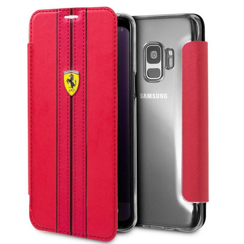 Funda Flip Cover Samsung G960 Galaxy S9 Licencia Ferrari Rojo