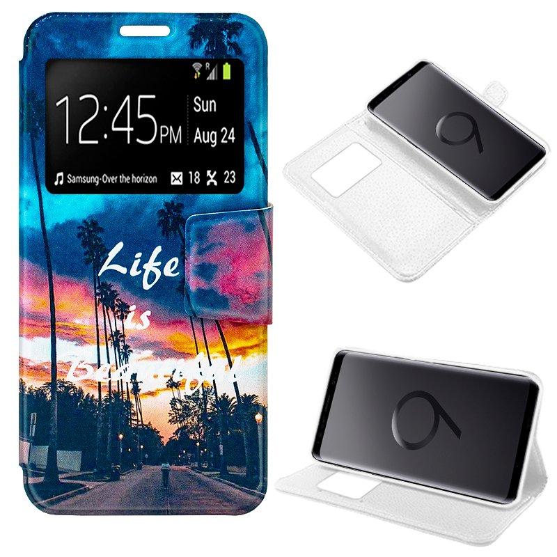 Funda Flip Cover Samsung G965 Galaxy S9 Plus Dibujos Life
