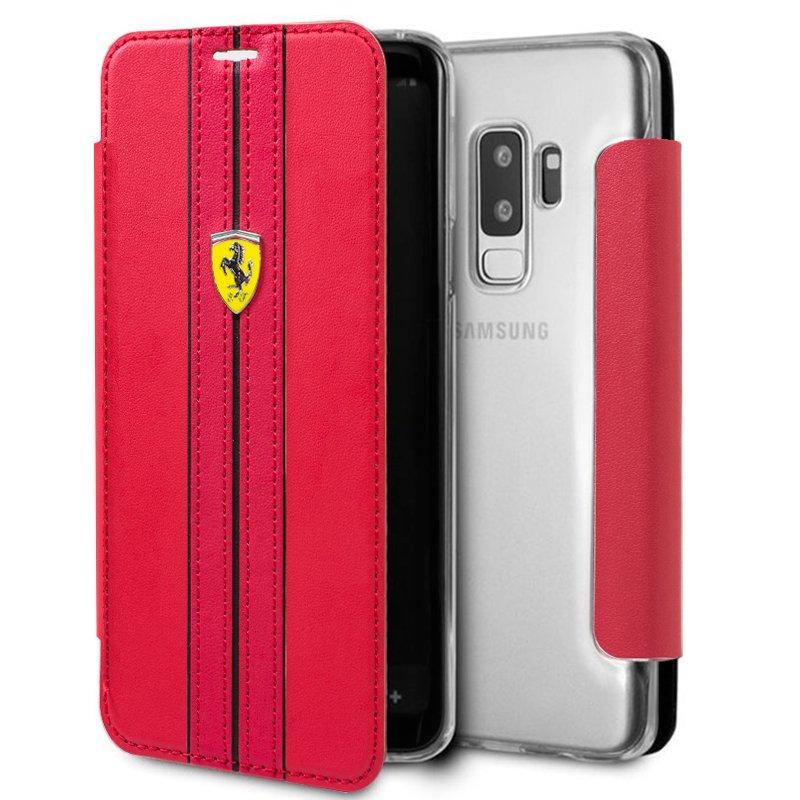 Funda Flip Cover Samsung G965 Galaxy S9 Plus Licencia Ferrari Rojo
