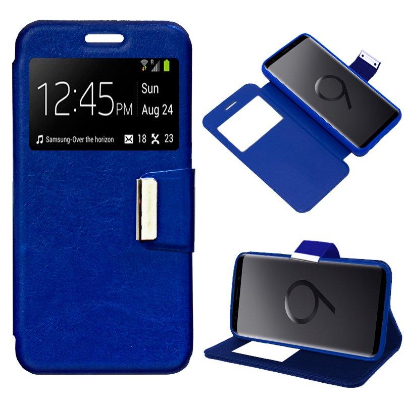 Funda Flip Cover Samsung G965 Galaxy S9 Plus Liso Azul